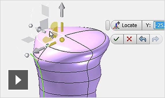 Видеоролик. Эскиз модели транспортного средства демонстрирует гибкость инструментов произвольного изменения формы в InventorLT (перемещение, поворот, масштабирование)