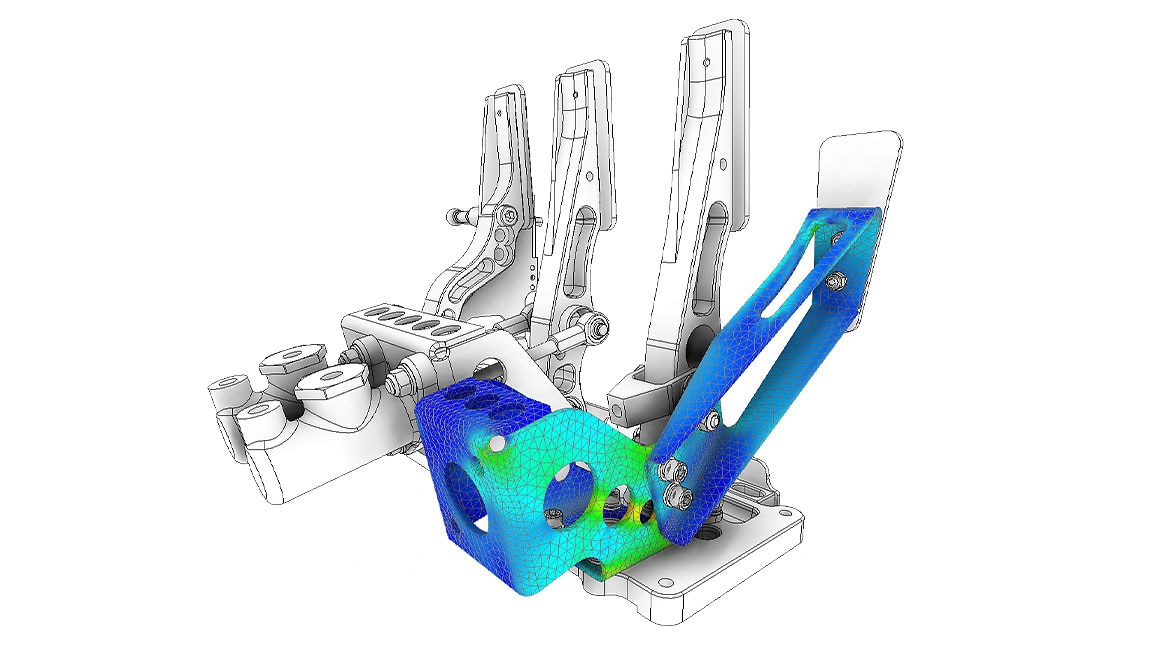 Simulation of a pedal box in Inventor Nastran