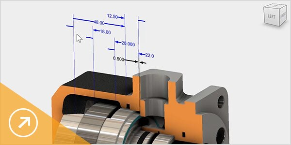 Image: Showing the integration of Inventor Tolerance Analysis in Inventor