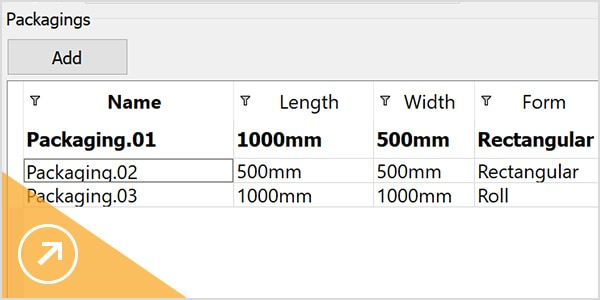 Material characteristics; size and form of raw materials