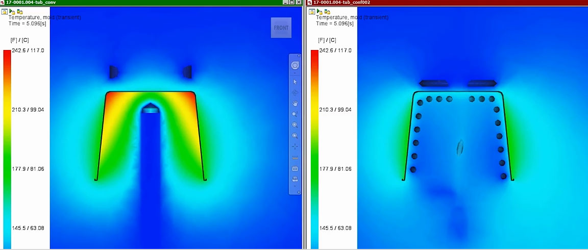 Video showing how DME Milacron uses Moldflow Insight to solve customer issues with conformal cooling solutions