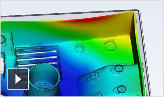 视频:使用 Moldflow Adviser 确定零件翘曲的根本原因,并查看设计中的任何问题