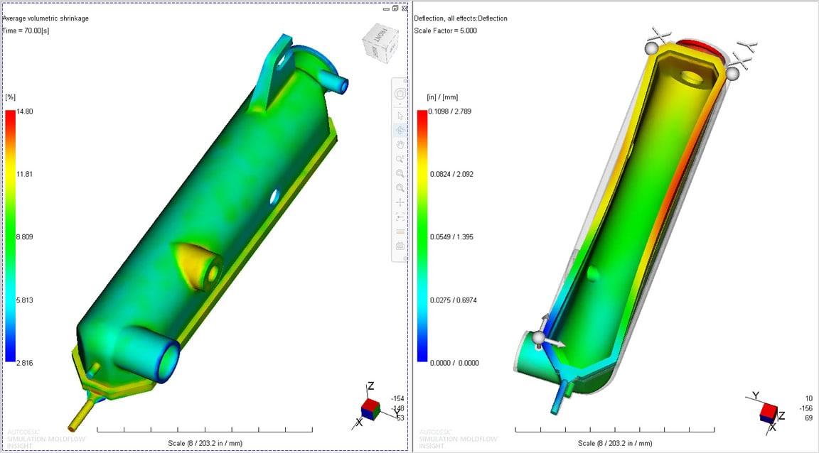 Moldflow:模具收缩和翘曲