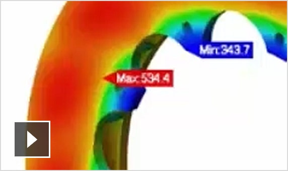 Video: demo of a brake assembly subjected to steady-state thermal heat transfer analysis