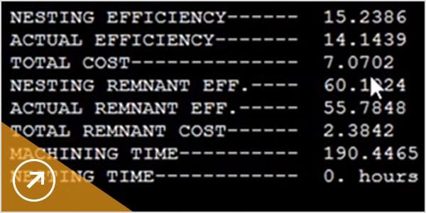 イメージ: 板取り効率レポートで詳細を比較する
