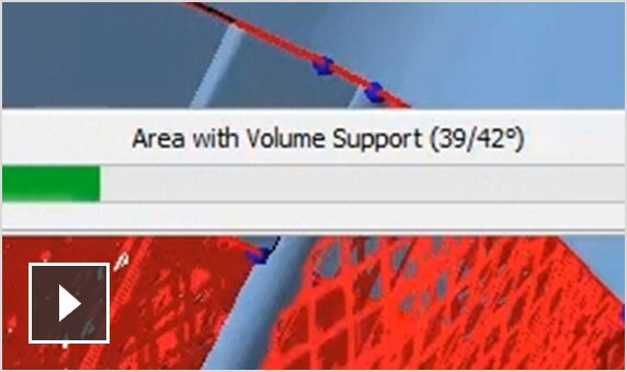 Video: Netfabb automatically generates support geometries only when they're necessary, reducing volume and material used