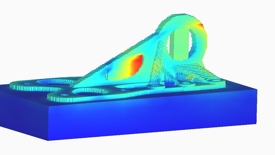 Netfabb simulation of a piece of machinery