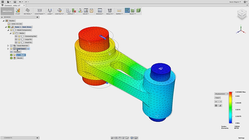 Fusion 360 simulation tutorial and training