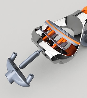 Shaver holder modeled in Fusion 360 product design software