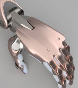 Prosthetic Limb modeled in Fusion 360 product design software