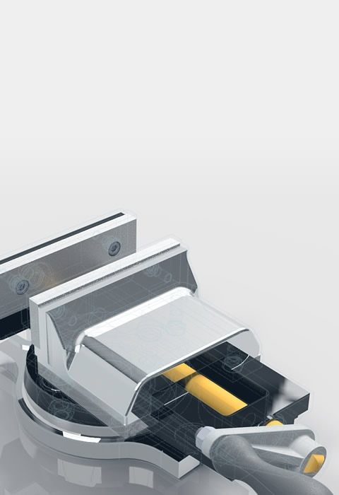 Bench vise modeled in Fusion 360 CAD/CAM software