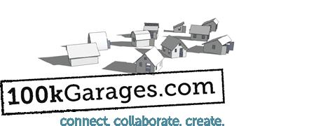 100kGarages logo