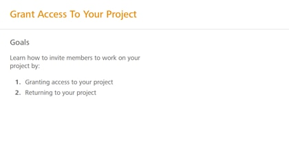 Grant access to your project
