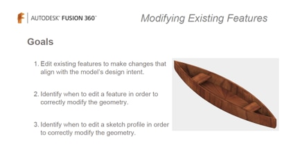 Editing features or sketch profiles depending on design intent.
