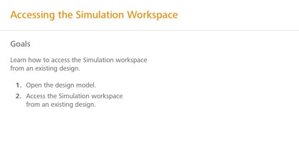 Accessing the simulation workspace