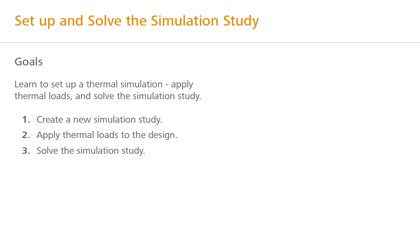 Set up and solve the simulation study