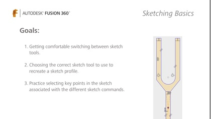 Get comfortable using sketch tools and sketch commands.