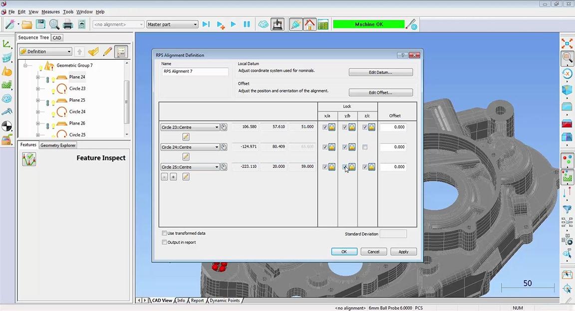 Alignements et stratégies d'ajustement optimal pour les pièces complexes