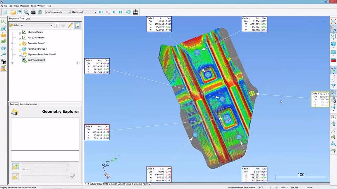 Prüfen Sie Komponenten anhand von CAD-Daten.