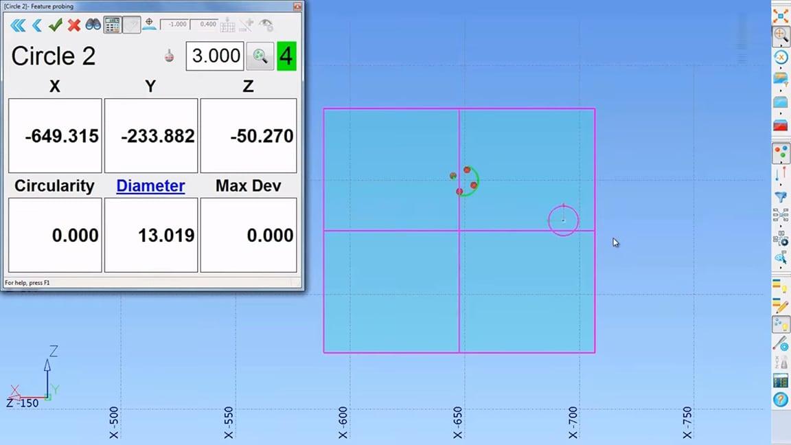 不使用 CAD 轻松测量检测结果