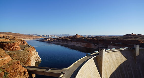 Model of the Glen Canyon Dam, created with Autodesk ReCap