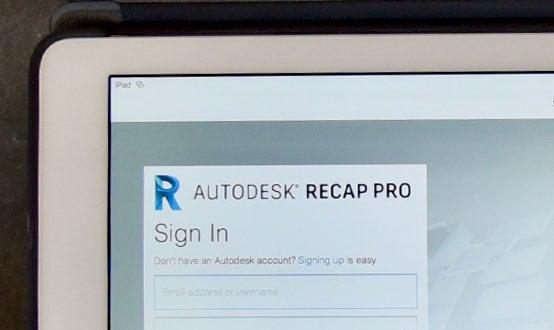ReCap Pro on iPad Pro
