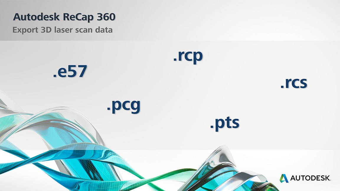 Export point clouds in RCP/RCS, E57, PTS, and PCG
