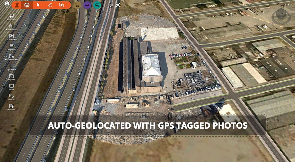 Automatically scale and geolocate scenes
