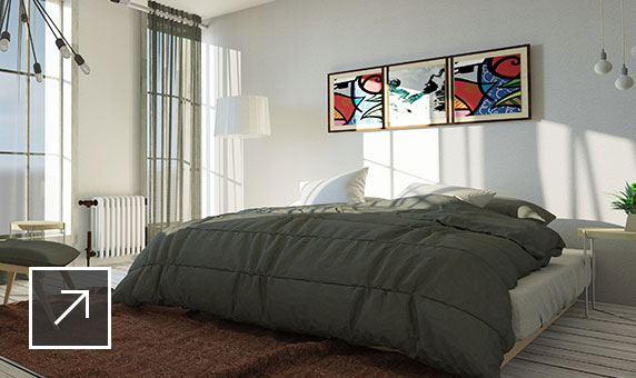 realistic rendering of bedroom