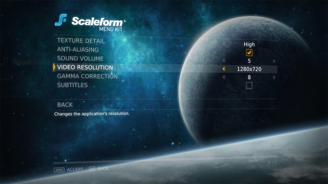 Game Design Tools For UI Menus Scaleform Autodesk - Game menu design