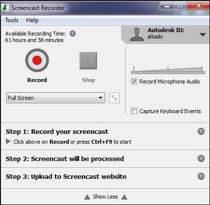 Screencast | Free Screen Capture App | Autodesk