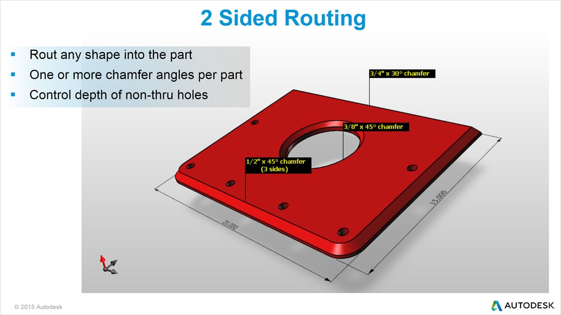 Use TruNest Multi-Tool router and punch nesting software to automate 2-sided routing