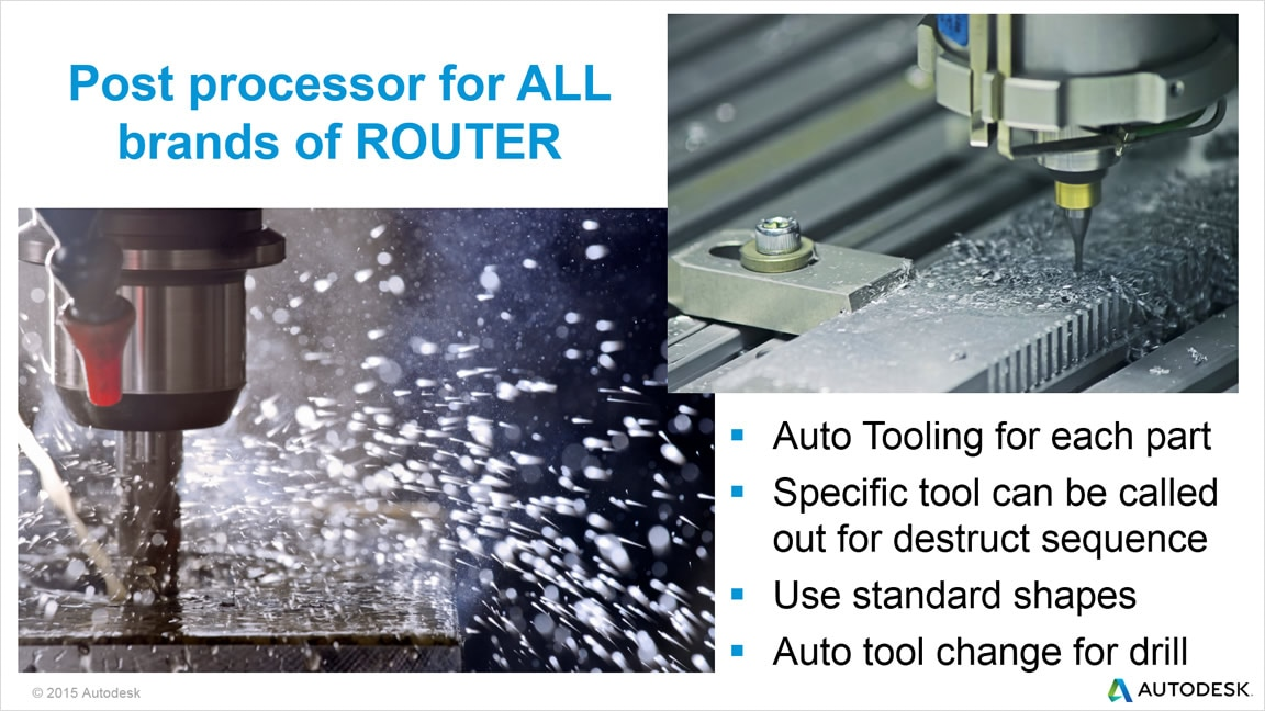 TruNest Multi-Tool supports all major brands of CNC routers