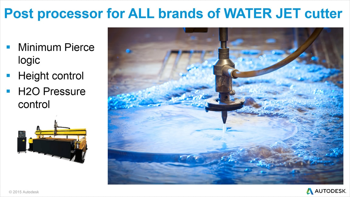 TruNest Contour nesting and cutting software supports major brands of waterjet cutters
