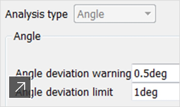 Angle of deviation analysis