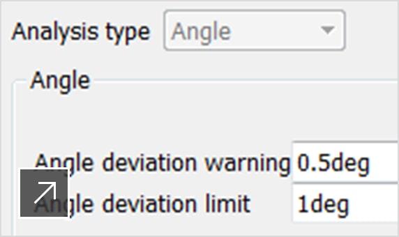 Angle of deviation analysis