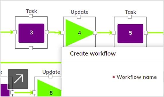 Upchain's workflow builder