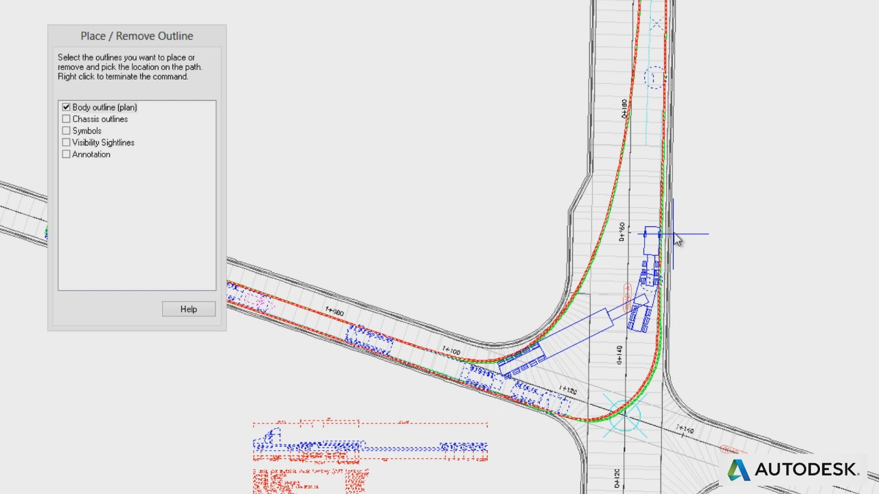 vehicle swept path templates - vehicle tracking swept path analysis software autodesk