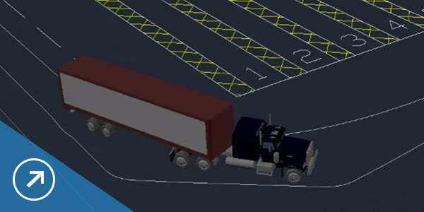 Animate vehicle paths directly within the CAD environment