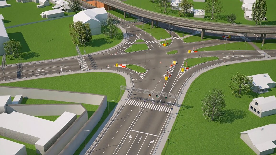 Rendering of a highway reconstruction project in Samara, Russia