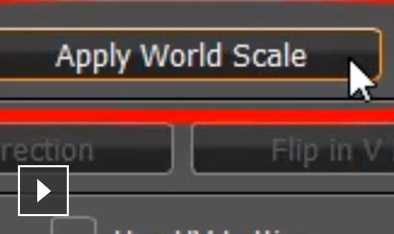 Video: Functionality within the UV creation workflow helps you apply a texture to an object in World Scale units