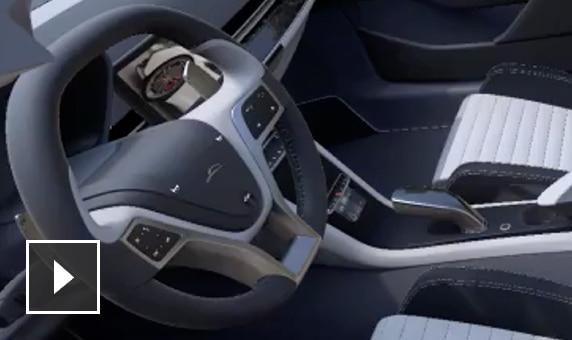 Video: Screencast mit Umgebungsokklusion und eingebackenen Schatten mit anschließend zu einem grauen Sport-Cabrio hinzugefügter eingebackener Beleuchtung