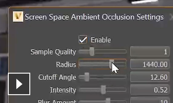 Video: More options have been introduced to screen space ambient occlusion