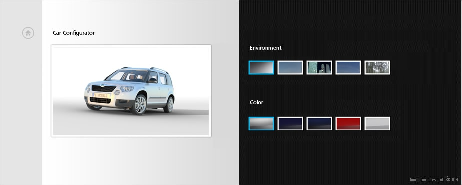 VRED Server offers online rendering technology, including a car configurator for product presentations