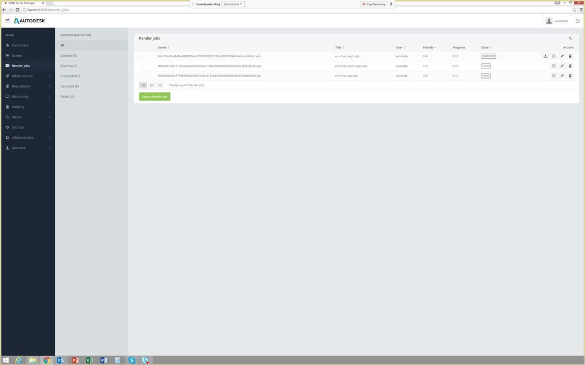 VRED Server Manager now provides a basic render scheduler.