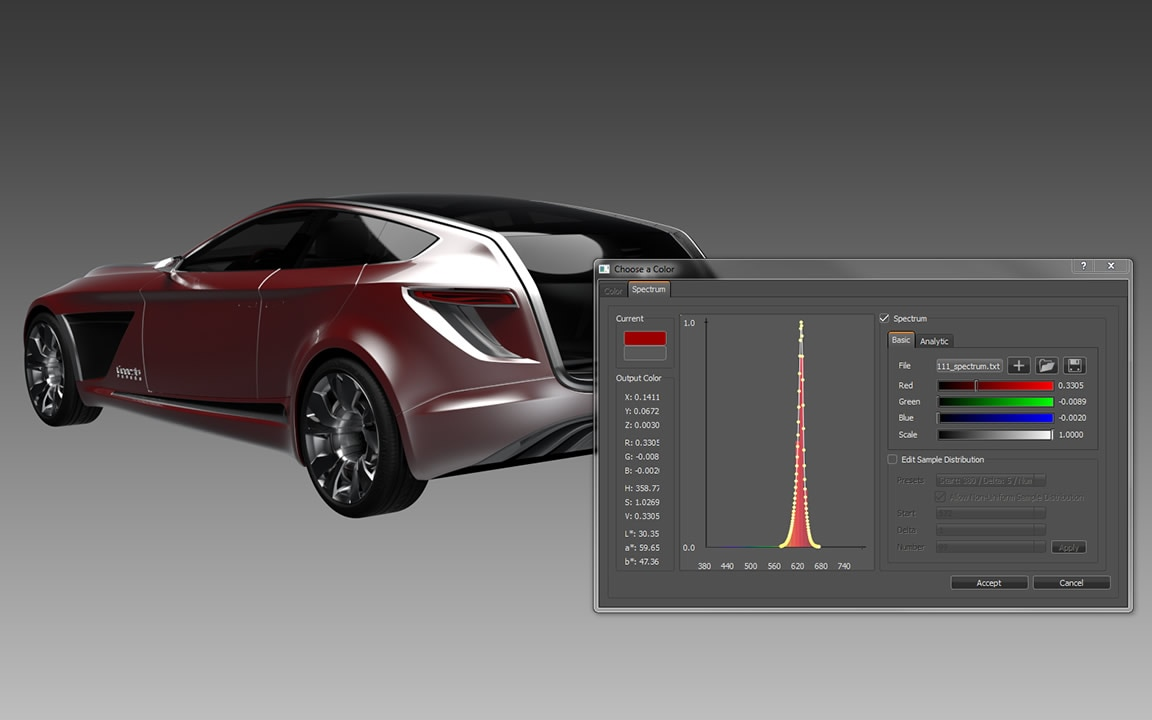VRED supports visual simulation features and enables real-time visualization