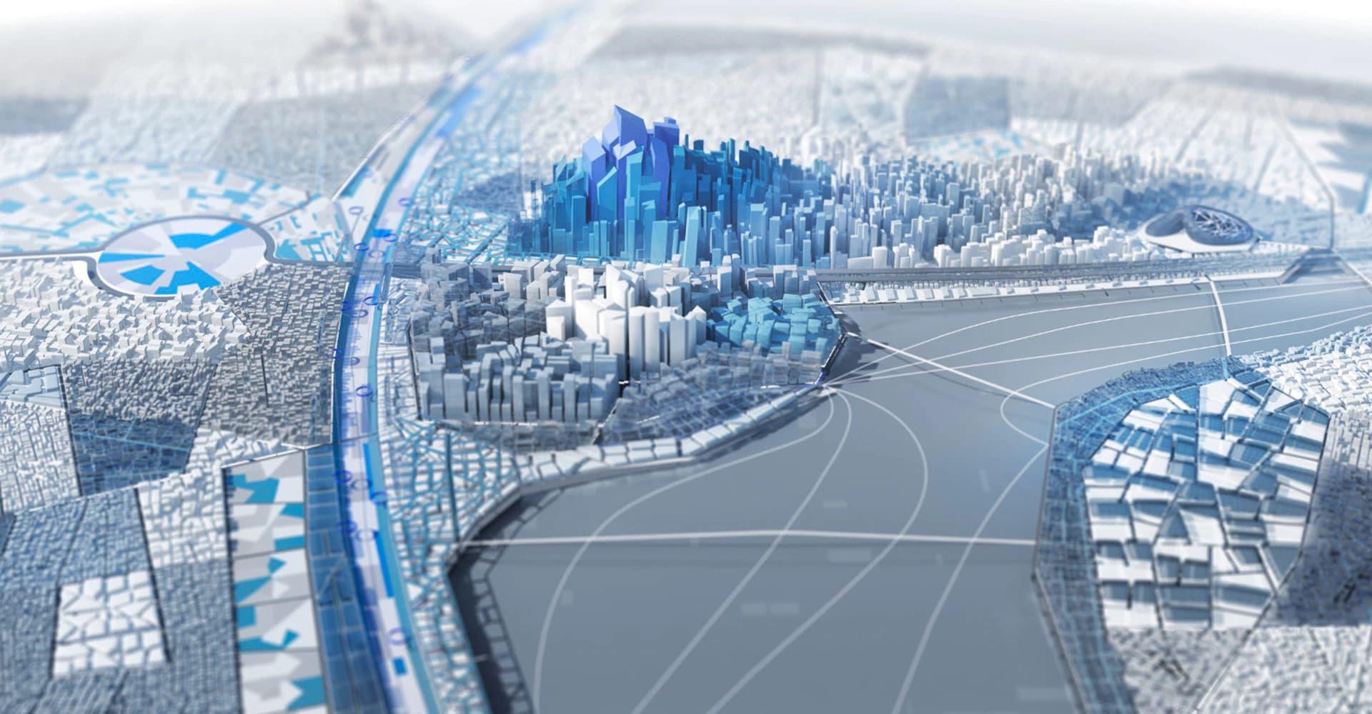 visualização de cidade em AEC