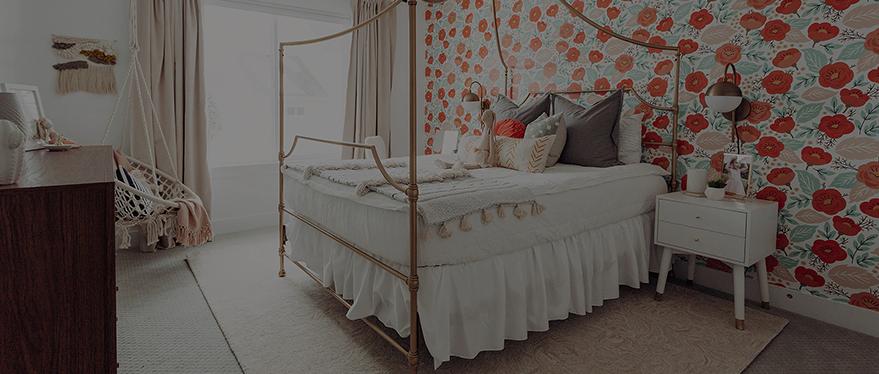 bed in bedroom designed by Alika Design