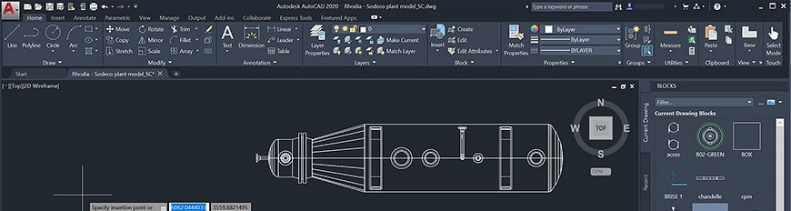 AutoCAD 2020: Blocks palette