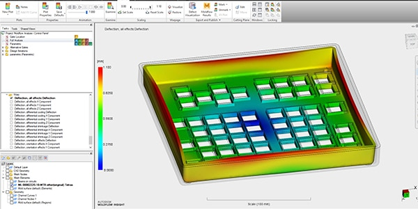 Image showing Moldflow simulation of a warped box part